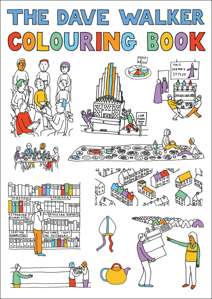 Dave Walker Colouring Book